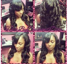Perfection. ..sew ins and layered with curls