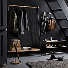 CoolStuff John Lewis - Brooklyn Clothes Rail Online - Outdoor Clocks - Variety and Choice cl Shoe Storage Design, Rack Design, John Lewis, John John, Clothes Rail, Clothes Rack Bedroom, Clothes Stand, Clothes Hooks, Clothes Storage