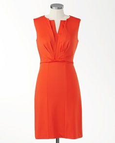 Coral twist dress | Coldwater Creek