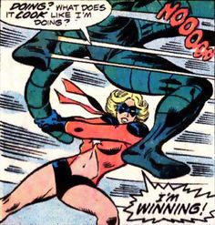 Ms. Marvel #1 (1977) script by Gerry Conway, art by John Buscema & Joe Sinnott.