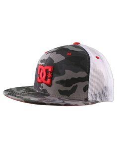 DC Shoes Rob Dyrdek Covert Trucker Black Hat / Camo