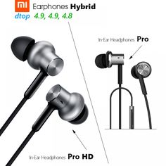 Original Xiaomi Hybrid Pro HD / Hybrid Pro Earphone Triple / Dual Driver Dynamic + Balanced Armature Mi In-Ear Line Control Mic Price: USD Noise Cancelling Headphones, Wireless Earbuds, Over Ear Headphones, Bluetooth Speakers, Mirror Effect, Audiophile, Control, Headset, Consumer Electronics
