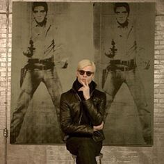 Andy Warhol at The Factory.