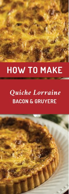 Make this breakfast delicacy in minutes! Crispy bacon and creamy gruyere combine to make a delectable brunch treat. Cultured Buttermilk, Buttermilk Recipes, Quiche Lorraine, Pie Plate, Blue Cheese, Bacon, Brunch, Stuffed Peppers, Treats