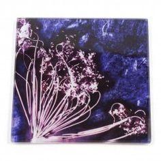 Gillian Arnold Fennel Love Purple Glass Coaster