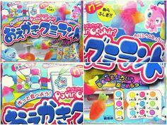 """Gummy Candy Making Kit """"Popin' Cookin' Painting Gummy Land"""" is gummy with many color and taste can be enjoyed. It changes the color powder and gummi candy, and trouble. 4 types of efforts out, or the shape of is contained in this product. Contains calcium. No juice.#food"""