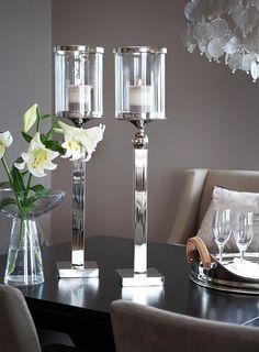 Silver candlesticks...