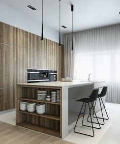 Natural Materials Adorning Sophisticated Wood House in Western Siberia