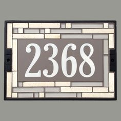 Linen Cathedral House Number Sign 2368