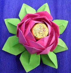 Lembrancinha Origami Flor de Lótus