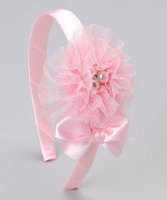 tulle pink headband