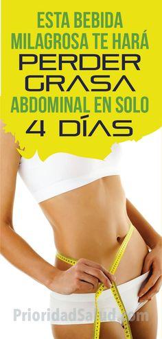 Bebida para quemar grasa abdominal y lograr vientre plano en tan solo 4 dias Tan Solo, Miraculous, Flat Belly, 6 Pack Abs, Metabolism, Bebe