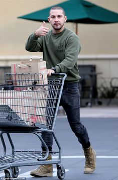 Thumbs up: Actor Shia LaBeouf did some last minute Christmas shopping in Los…