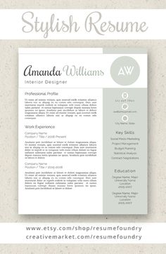 Professional And Stylish Resume Template.