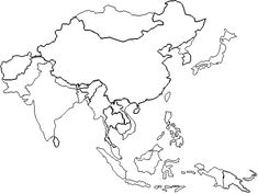 Blank East Asia Map World Map Pinterest East Asia Map Asia - Asia blank map