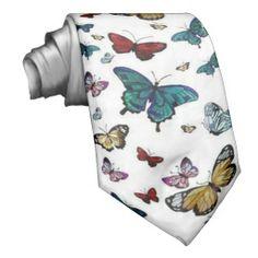 Butterflies Tie #giftsforhim #dad #boyfriend #gifts http://www.zazzle.com/sara_valor*