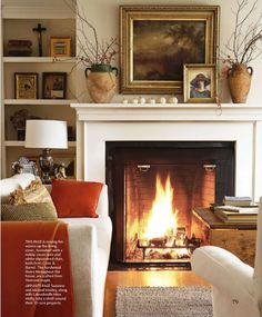 suzanne and michael morley.  sofa and chair from crate and barrel, floors vermont maple, ( warm and cozy)