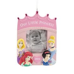 Disney Princess Hallmark Photo Frame Christmas Ornament >>> You can get additional details at the image link.