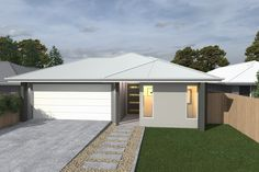 Costa Home Designs  LIME183  Sunshine Coast Home Builders Classic Facade