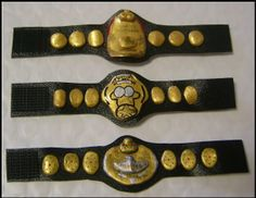 AJPW Triple Crown Painted Action Figure Belt Lot Great Muta WWE Mattel Vader   eBay