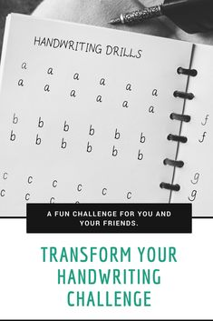 Interested in improving your penmanship? Here is a fun challenge to help you transform your handwriting. Send it to your friends too. Penmanship Practice, Handwriting Practice Sheets, Pretty Handwriting, Improve Your Handwriting, Improve Handwriting, Handwriting Styles, Handwriting Worksheets, Nelson Handwriting, Handwriting Fonts
