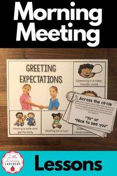 Strengthen your classroom community, help students solve problems, strengthen social skills, and build trust with morning meetings. This class meeting product bridges together aspects of general education, speech, and language to provide teachers with a ready to use year-long classroom meeting curriculum. Lessons, visual expectations, and rings cards for greeting, sharing, activity, and message. #morningmeeting #classmeeting #communitycircle Calm Classroom, Classroom Meeting, Classroom Behavior, Classroom Environment, Classroom Management, Class Meetings, Morning Meetings, First Grade Teachers, First Grade Classroom