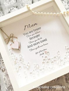 Meaningful quote frame, gift for her - gift for him, inspirational quote frame, positive quote frame, personalised inspirational quote frame With a be. Mothers Day Crafts, Mother Day Gifts, Gift For Mother, Diy Gifts For Mothers, Gift Ideas For Mum, Quotes For Mothers Day, Meaningful Gifts For Her, Mothers Day Pictures, Handmade Gifts For Her