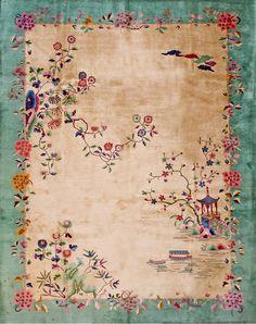 // Chinese Art Deco carpet /  circa 1920.