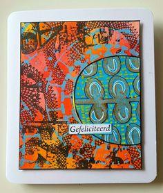 Karin van den Broek made this birthday card with ART BY MARLENE's Geoleaf ARTFOAMIES.