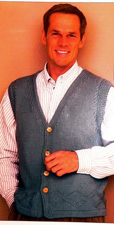 "Ravelry: Vested in ""My Guy"" pattern by Nadia Severns  free Ravelry download"