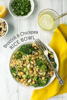 Broccoli & Chickpea Rice Bowl #vegan #glutenfree: