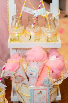 Sweet Ballerina Themed 1st Birthday Party with So Many Really Cute Ideas via Kara's Party Ideas KarasPartyIdeas.com #BalletParty #VintageBallerina #PartyIdeas #Supplies (6)