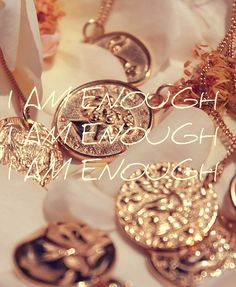 letting myself in on a secret i have kept from myself for way too long. as i am, i am enough. as i am, i wholesome. i am everything i've been waiting for. Let Me In, Let It Be, I Am Enough, Gold Jewelry, Jewellery, Bangles, Bracelets, Waiting, Pendants