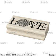 Flower Of Life - LOVE lettering tattoo black