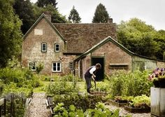 Small raised beds, beautiful pea gravel paths, potager garden of my dreams!