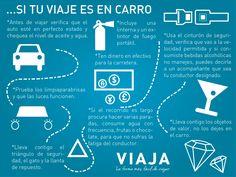Tips para viajar en Auto.