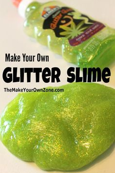 Make your own glitter slime - a fun homemade project using Elmers Glitter Glue