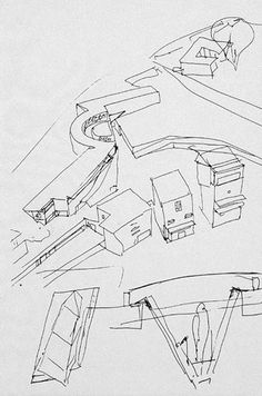 Siza_The Faculty of Architecture of the University of Porto Hipster Drawings, Single Line Drawing, Architect Drawing, Alvar Aalto, Architecture Design, Architecture Sketches, Hand Sketch, Drawing Sketches, Graffiti