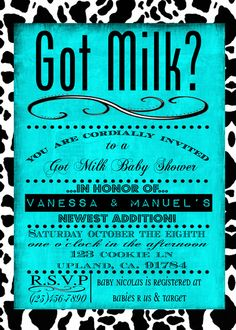 "Photo 1 of 9: Got Milk / Baby Shower/Sip & See ""Got Milk?"" 