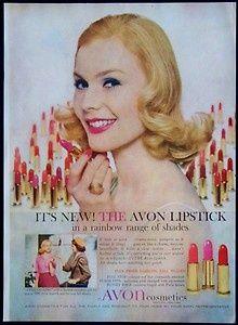 1960 Avon Cosmetics Ad - Avon Lipstick In A Rainbow Range of Shades - Avon Calling - Vintage Beauty Advertising Vintage Makeup Ads, Retro Makeup, Vintage Avon, Vintage Beauty, Vintage Soul, Vintage Perfume, Retro Vintage, Avon Lipstick, Pink Lipsticks