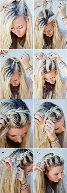 DIY: Half-Up Side French Braid