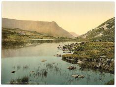 [Cwernan Lake and Cader Idris (i.e. Cadair Idris), Wales] (LOC) by The Library of Congress, via Flickr    (Dark is Rising Location, Wales)