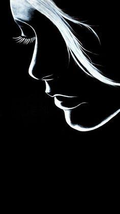 Pencil Art Pencil Drawings Art Drawings Chalk Drawings Airbrush Line Art Erotic Art Black Art Art Sketches Girly Drawings, Cool Art Drawings, Pencil Art Drawings, Art Drawings Sketches, Black Paper Drawing, Indian Art Paintings, Modern Art Paintings, Silhouette Art, Arte Pop