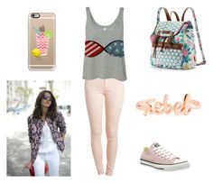 """""""♥♥♥♥"""" by laurenciusz ❤ liked on Polyvore featuring Pieces, Converse, UNIONBAY and Casetify"""