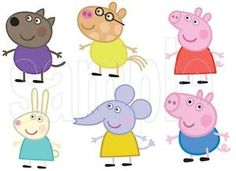 JOB LOT OF PEPPA PIG AND FRIENDS IRON ON T-SHIRT TRANSFERS (2)