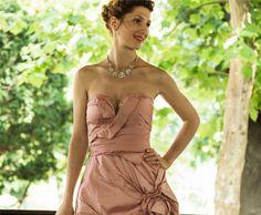 Rochie drapata roz