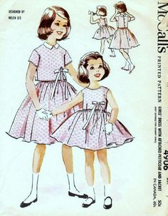 McCall's 4906 by Helen Lee © 1959.  Featured as a dress for Betsy McCall in her July 1959 paper doll.