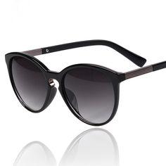 [$25.99] Solid Black Frame Fashion Unisex UV Protection Sunglasses - Free Shipping