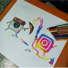 Amazing drawings, cool artwork, amazing artwork, art drawings, drawing th. App Drawings, Disney Drawings, Drawing Sketches, Drawing Tips, Emoji Drawings, Pencil Drawings, Draw On Picture App, Amazing Drawings, Cute Drawings