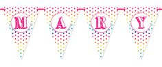Art Party Bunting. Perfect for kids parties, baby showers and weddings.